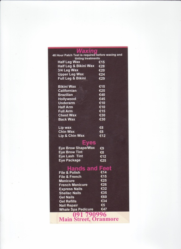 Price list 2 allure beauty and nail salon for A list nail salon